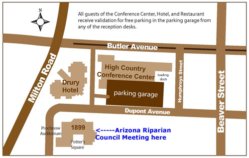 Location of the 1899 Ballroom at the High Country Conference Center